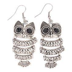 Vintage Style Owl Shape Earrings – USD $ 2.99