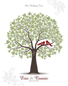 Hochzeit Baum mit Liebe Vögel Gast Buch von TJLovePrints auf Etsy