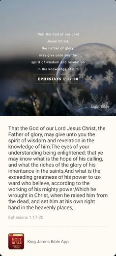 Ephesians 1, Luther, Jesus Christ, Verses, Prayers, Lord, Bible App, Wisdom, Thoughts