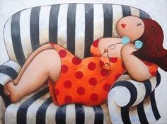 """bigbeautifulblackgirls: """" Susan Ruiter is a Dutch painter whose main paintings are of plus size women or voluptuous ladies. Her inspiration came from another famous painter Fernando Botero. Her paintings of full figured women capture them in. Plus Size Art, Fat Art, Beautiful Figure, Dutch Painters, Arte Popular, Motif Floral, Fat Women, Naive Art, Love Drawings"""