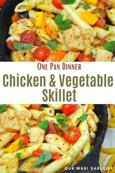 One Pan Chicken, Chicken Meals, Chicken Recipes, Skillet Recipes, Skillet Meals, Healthy Foods, Healthy Eating, Healthy Recipes, Recipe Videos