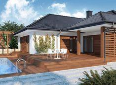 Jeremiasz 2 PS - zdjęcie 4 Grenada, House Plans, Pergola, Outdoor Structures, House Design, Architecture, Outdoor Decor, Home Decor, Lotus