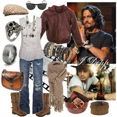 """Johnny Depp Style"" by ravenlady on Polyvore"