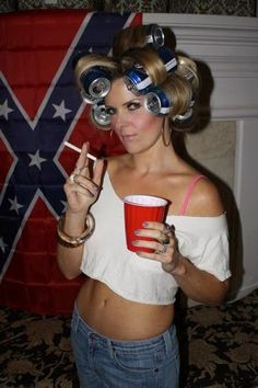 halloween costumes ideas Sometimes the white trash even outdo themselves. Take a look at these 28 white trash images that are way too trashy!