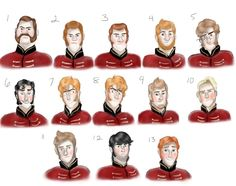 The top two look like the guards who were escorting the Duke of Westleton and 7 and 8 are the Stabbington brothers.