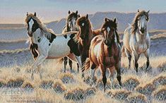 Young Blood - cross stitch pattern designed by Tereena Clarke. Category: Horses.