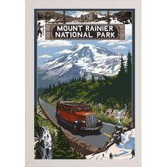 Loon Peak '31707' Graphic Art Print Format: White Wood Medium Framed Paper