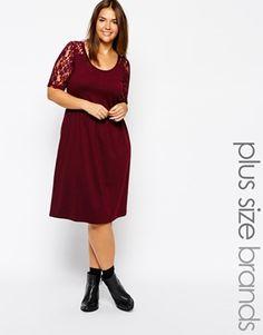 Enlarge Junarose Lace Shoulder Skater Dress