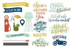 Wanderlust - U.S Travel Vectors by Little Sisters Studio on @creativemarket