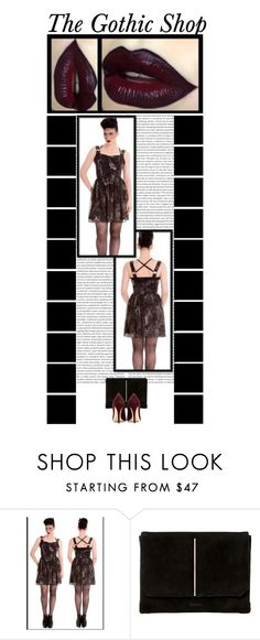 """""""The Gothic Shop (16)"""" by irresistible-livingdeadgirl ❤ liked on Polyvore featuring Hell Bunny, Dune, Miu Miu, Kat Von D, women's clothing, women, female, woman, misses and juniors"""