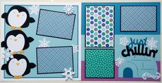 Winter premade scrapbook page  Winter scrapbook by ohioscrapper