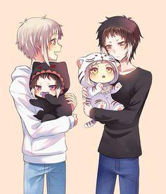How cute it is? Dazai Bungou Stray Dogs, Stray Dogs Anime, Cute Couple Comics, Couples Comics, Mundo Comic, Pikachu, Shounen Ai, Cute Gay, Anime Ships