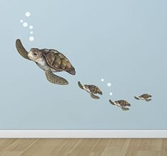 Sea Turtle Family Decals ~Underwater Room Theme