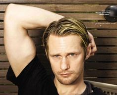 Alexander Skarsgård- Swedish Vampire God. My name is Valerie and I'm addicted to V.