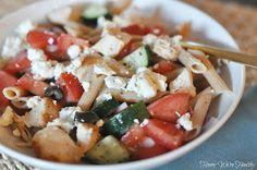 Honey We're Healthy: Greek Pasta Salad with Grilled Chicken