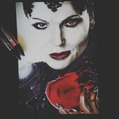 Regina once upon a time format A4  . Evil queen .