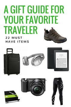 Find that must have gift for the traveler in your life. Help them travel and inspire their wanderlust with one of these present ideas.