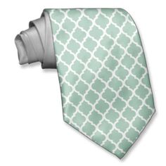 Light Green White Quatrefoil Pattern Ties For Men Dream Wedding, Wedding Day, Quatrefoil Pattern, Wedding Gifts, Favors, Ties, Wedding Decorations, My Style, Green