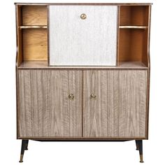 A Faux Wood Veneer Sideboard | From a unique collection of antique and modern sideboards at http://www.1stdibs.com/furniture/storage-case-pieces/sideboards/