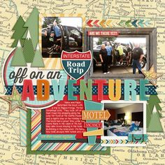 #papercraft #scrapbook #layout.  Adventure by Tracyfish @2peasinabucket