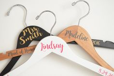 Personalized Vinyl Hanger – Twisted Hangers