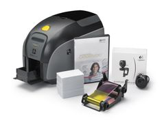 Zebra ZXP Series 1 QuikCard ID Solution. Bundle Includes - Card Studio Standard Software, 1 YMCKO Ribbon, 1 Logitech webcam and 100 Cards. Printer with Magnetic Encoder Kodak Printer, Hp Printer, Asus Notebook, Zebra Printer, Software, Retail Solutions, Mobile Price, Charger Adapter, Logitech