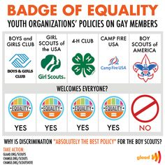 Repin this if you think the Boy Scouts should follow these organizations & adopt inclusive policies!