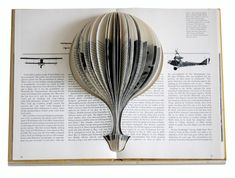 repurposed book art