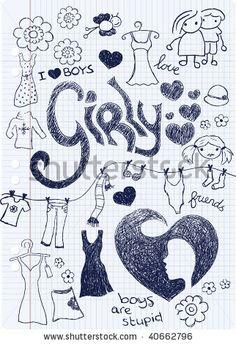 Girly fashion doodle