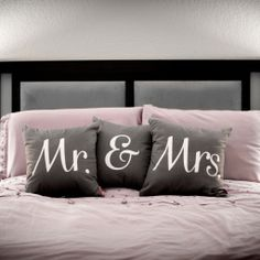 Mrs Grey Throw Pillow