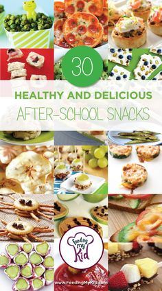 30 Healthy and Delicious After-School Snacks. Check out these after school snack ideas, including healthy after school snack, and good after school snacks for kids.