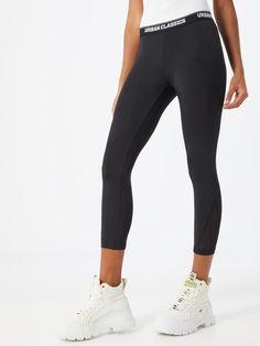 Damen Leggings Mesh Einsatz Sport Capri Hose Bunt 7//8 Fitness Pants Cropped Gym
