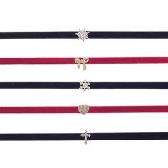 Velvet Choker Charm Necklace