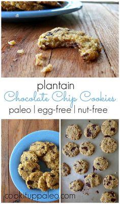 Plantain Chocolate Chip Cookies #gf #paleo