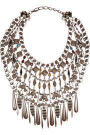 VICKISARGEBronze-plated Swarovski crystal necklace