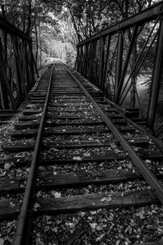 Black and White-fine photo of tracks