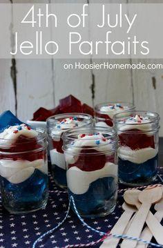 4th of July Treat :: Jello Parfaits :: Recipe on HoosierHomemade.com #KraftRecipes
