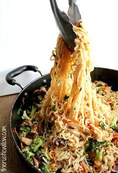 Ramen Vegetable Stir Fry - The Rustic Willow