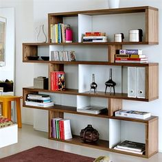 A modern bookcase for any room. London Medium Bookcase by TemaHome Modular Bookshelves, Modern Bookcase, Apartment Bookshelves, Diy Bookcases, Interior Design, Design Ideas, Bibliotheque Design, Regal Design, Home Furniture
