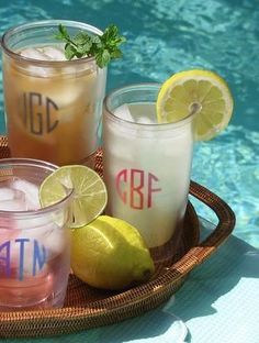Personalized Tervis Tumblers and Monogrammed Tervis Tumblers - 16 oz - The Monogram Merchant
