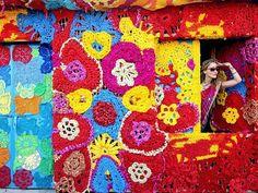 Textile artist Olek