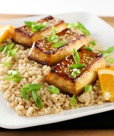 Easy Weeknight Baked Tofu - here's an easy tofu recipe for beginners resulting in a vegan meal that's satisfying and loaded with protein.