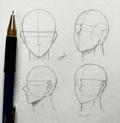 Anatomy Drawing Tutorial Techniques And Strategies For drawing tips Anime Drawings Sketches, Pencil Art Drawings, Anime Sketch, People Drawings, Easy Drawings, Wie Zeichnet Man Manga, Drawing Heads, Drawing Faces, Male Face Drawing