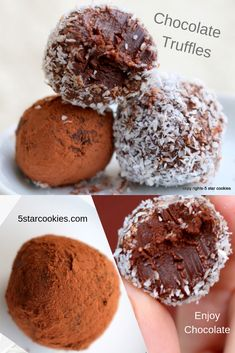 Chocolate Truffles – impress anyone with this 5 star recipe. It is so easy to make but so hard to resist. So, don't resist. 5 Star Cookies is saying: Make great chocolate truffles. Be kind and share. Chocolate Torte, Chocolate Bomb, Chocolate Heaven, Best Chocolate, Chocolate Truffles, Homemade Chocolate, Chocolate Desserts, Chocolate Chip Cookies, Sugar Cookies