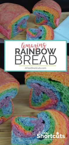 Make the coolest sandwich ever with this colorful Rainbow Bread Recipe! So much fun and perfect for spring or St Patricks Day! #spring #rainbow #recipes #stpatricks