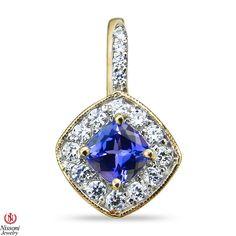 Ebay NissoniJewelry presents - Ladies 5/8CT Diamond Earrings with Tanzanite in 14k Yellow Gold    Model Number:E8096F-Y477TA    http://www.ebay.com/itm/Ladies-5-8CT-Diamond-Earrings-with-Tanzanite-in-14k-Yellow-Gold/221630398392