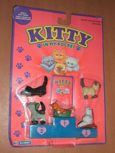 I had Rosie, top right, among others. Vintage 1994 Hasbro Kitty in My Pocket Collection 7 90s Childhood, My Childhood Memories, School Memories, Retro Toys, Vintage Toys, Retro Vintage, 1990s Toys, Lps, Baby Doll Nursery