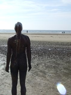 """Anthony Gormley's """"Another Place""""."""