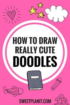 How to draw really cute doodles doodle ideas, doodle doodle, doodle inspiration, doodle Planner Doodles, Bujo Doodles, To Do Planner, Planner Pages, Doodle Drawings, Easy Drawings, Doodle Doodle, Heart Doodle, Doodle Pages