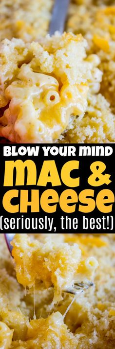 Best Mac and Cheese recipe ever! I'm not kidding guys.When I put this in my mouth the first time, I literally stopped to shout hallelujah. Okay not really, but I'm telling you it is SO CREAMY AND SO CHEESY and so worth it. Best Mac and Cheese … Best Ever Mac And Cheese Recipe, Best Macaroni And Cheese, Macaroni Cheese Recipes, Easy Pasta Recipes, Side Dish Recipes, New Recipes, Dinner Recipes, Cooking Recipes, Favorite Recipes